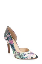 Women's Jessica Simpson 'Claudette' Half D'orsay Pump Purple Multi Patent Leather