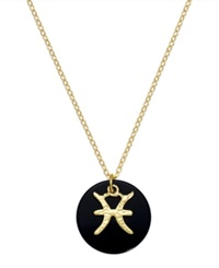 Studio Silver Pisces Pendant Necklace In 18K Gold Over Sterling Silver