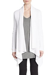 Vince Drape Front Knit Cardigan Optic White