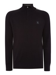 Duck And Cover Men's Dynamo Crew Neck Knitwear Black