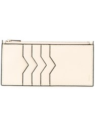 Valextra Coin And Cardholder White