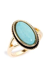 Junior Women's Bp. Oval Turquoise Ring