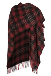 Balenciaga Tartan Cashmere And Wool Blend Scarf Black