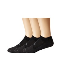 Thorlos Thin Cushion Tennis Micro Mini 3 Pair Pack Black Black No Show Socks Shoes