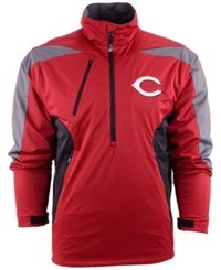 Antigua Men's Cincinnati Reds Discover Half Zip Jacket Red Gray