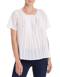 French Connection Pleated Blouse Summer White