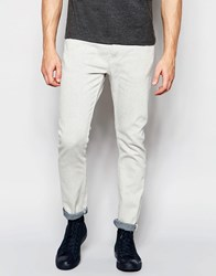 Weekday Friday Skinny Jeans In Stretch Reply Off White Reply