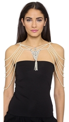 Haute Hippie Imitation Pearl And Crystal Neck Piece