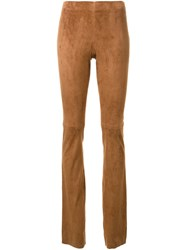 Joseph Slim Fit Long Leggings Brown