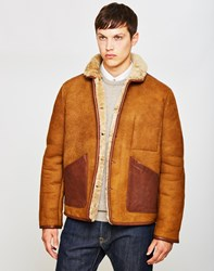 Ymc Brainticket Sheepskin Coat Tan