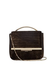 Eddie Borgo Colt Tech Velvet Cross Body Bag Dark Grey