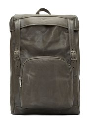 Saint Laurent Tuscany Washed Leather Hunter Backpack Grey