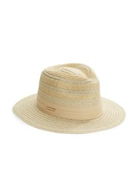 Vince Camuto Textured Knit Fedora Tan