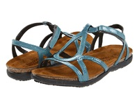 Naot Footwear Dorith Teal Patent Leather Women's Sandals Navy