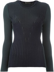 Versace Two Tone Jumper Green