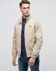 Lyle And Scott Harrington Jacket Eagle Logo Stone Beige
