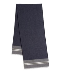 Roda Striped Scarf Navy