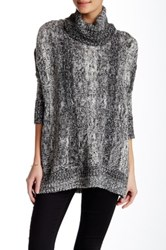Romeo And Juliet Couture Dolman Sleeve Turtleneck Sweater Black