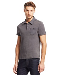 Kenneth Cole Pocket Polo Shirt Grey