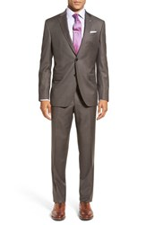 Ted Baker Men's London 'Jay' Trim Fit Solid Wool Suit Taupe