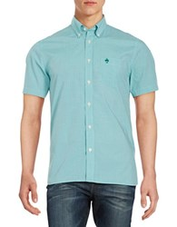 Brooks Brothers Checkered Sportshirt Green