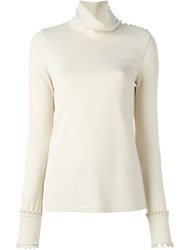 See By Chloe Scalloped Cuffs Blouse Nude And Neutrals