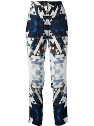 2Nd Day 'Geoma' Print Trousers Blue
