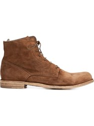 Officine Creative 'Ideal' Lace Up Boots Brown