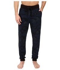 2Xist Core Terry Sweatpant Blue Camo Men's Casual Pants