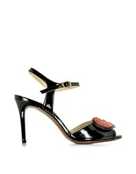 L'autre Chose Black Patent Leather Sandal