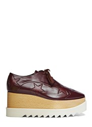 Stella Mccartney Elyse Star Platform Shoes Burgundy