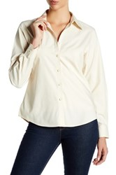 Foxcroft Long Sleeve Shaped Diane Shirt Beige