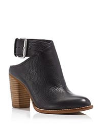 Dolce Vita Jacklyn Nubuck Cutout Buckle High Heel Booties Black