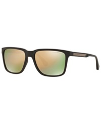 Emporio Armani Sunglasses Emporio Ea4047 56 Grey Brown Grey Mirror