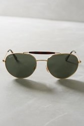 Anthropologie Ray Ban Round Brow Bar Sunglasses White