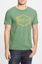 Rvca 'Branches' Graphic T Shirt Artichoke Green