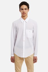 Opening Ceremony Pique Classic Fit Reverse Dolman Shirt White