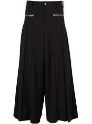 99 Is 99 Is Pleated Wide Leg Trousers Black