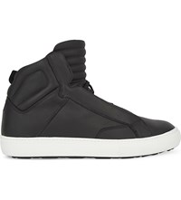 Aldo Qelalle Leather High Top Trainers Black Leather
