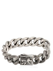 Cantini Mc Firenze Lion Engraved Chain Link Bracelet