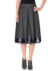 Erika Cavallini Semi Couture Erika Cavallini Semicouture Knee Length Skirts Dark Blue