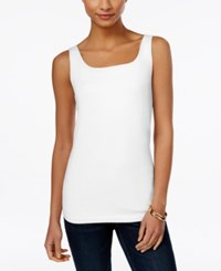 Styleandco. Style And Co. Petite Shelf Bra Tank Top Only At Macy's Bright White