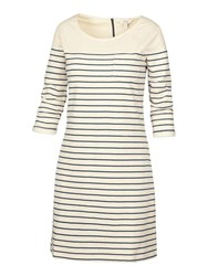 Fat Face Tenby Breton Stripe Dress Ivory