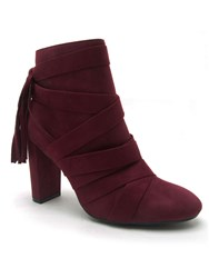 Qupid York Ankle Boot Burgundy