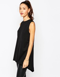 Daisy Street Tunic With Side Splits Black