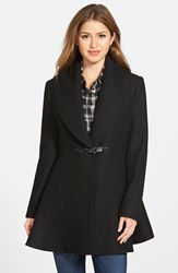 Women's Kensie Shawl Collar Fit And Flare Coat