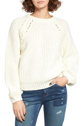 J.O.A. Women's Chunky Knit Raglan Sweater
