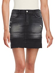 J Brand Washed Pencil Denim Skirt Distressed