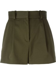 Versace Pleated Shorts Green