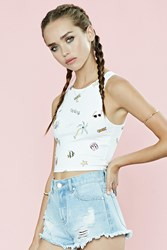 Forever 21 Beach Graphic Crop Top
